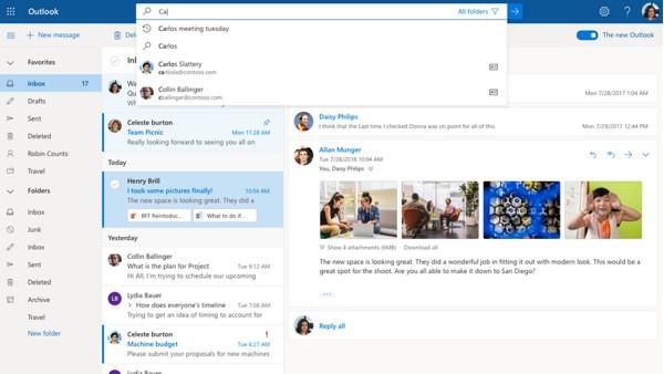 В новом Outlook появится искусственный интеллект