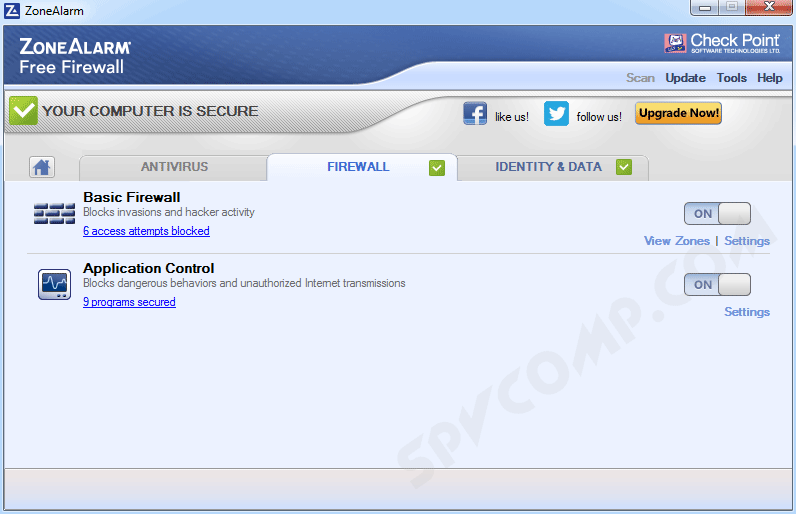ZoneAlarm Free Firewall скриншот