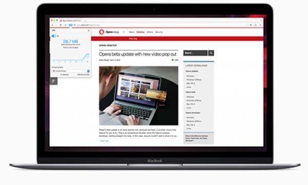 В браузере Opera появился бесплатный VPN-клиент