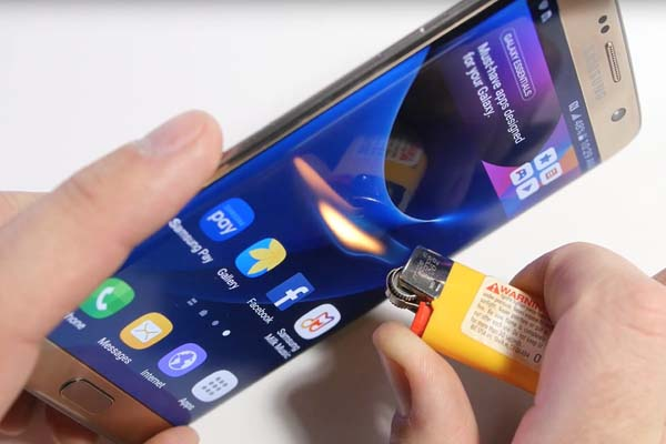 Первый краш-тест Samsung Galaxy S7 edge выложили в Интернет