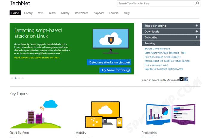 Мошенники размещали на Microsoft TechNet рекламу поддельных сервисов
