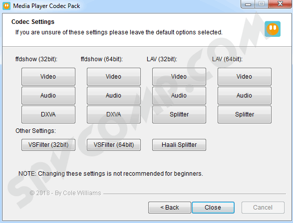 Media Player Codec Pack скриншот