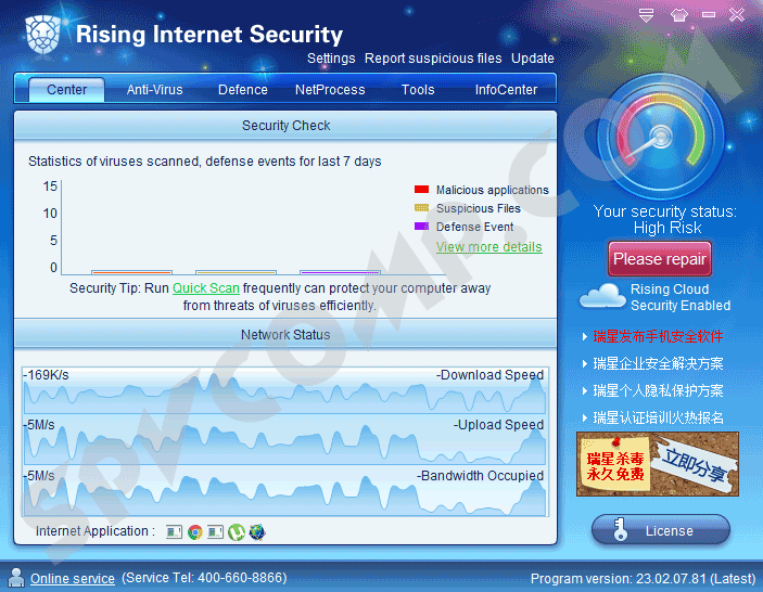 Rising Internet Security скриншот